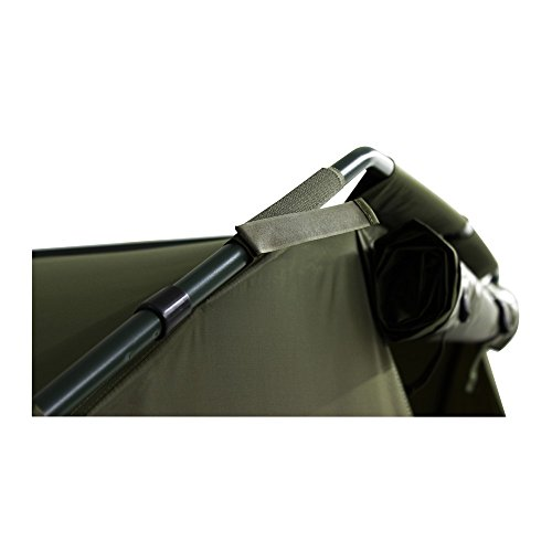 Lucx® Angelzelt Caracal / 1-2 Mann Bivvy / Karpfenzelt / Carp Dome / Zelt, 295x290x165cm, 10.000mm Wassersäule Campingzelt - 2