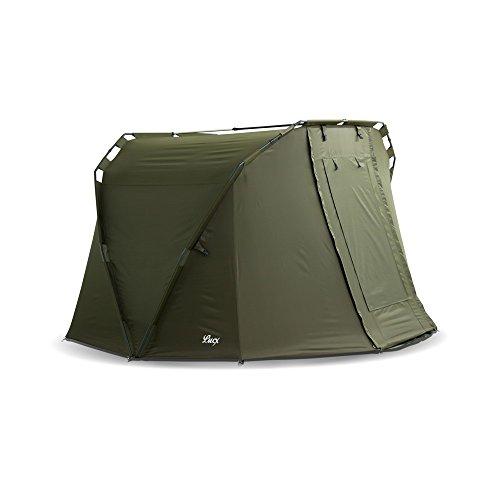Lucx® Angelzelt Caracal / 1-2 Mann Bivvy / Karpfenzelt / Carp Dome / Zelt, 295x290x165cm, 10.000mm Wassersäule Campingzelt - 3