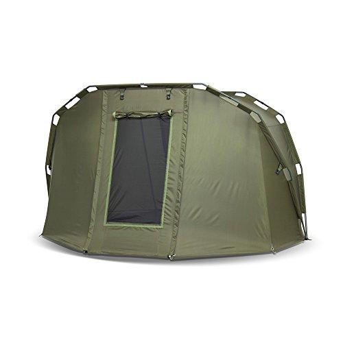 Lucx® Angelzelt Caracal / 1-2 Mann Bivvy / Karpfenzelt / Carp Dome / Zelt, 295x290x165cm, 10.000mm Wassersäule Campingzelt - 4