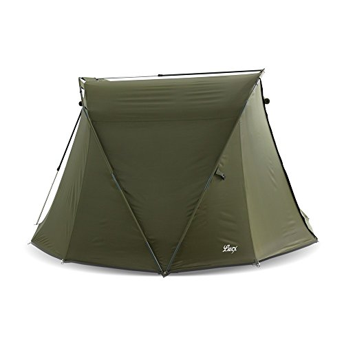 Lucx® Angelzelt Caracal / 1-2 Mann Bivvy / Karpfenzelt / Carp Dome / Zelt, 295x290x165cm, 10.000mm Wassersäule Campingzelt - 6