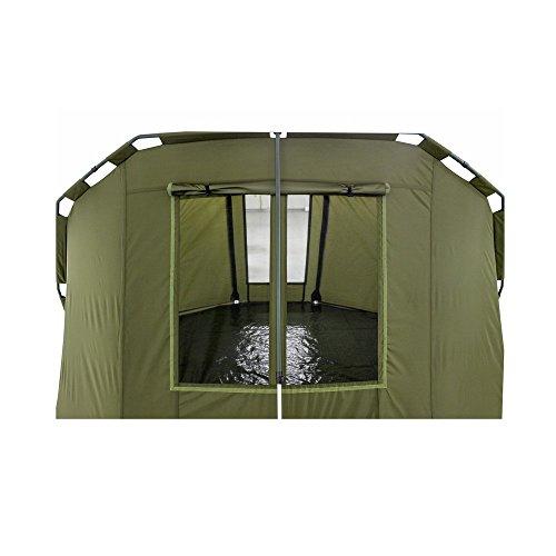Lucx® Angelzelt Caracal / 1-2 Mann Bivvy / Karpfenzelt / Carp Dome / Zelt, 295x290x165cm, 10.000mm Wassersäule Campingzelt - 7