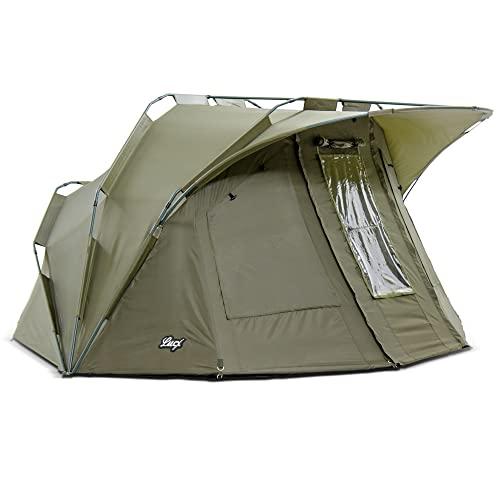 Lucx® Angelzelt - Bivvy Lion, 1-2 Mann Karpfenzelt / Carp Dome / Zelt / 10.000mm Wassersäule - Campingzelt - 8