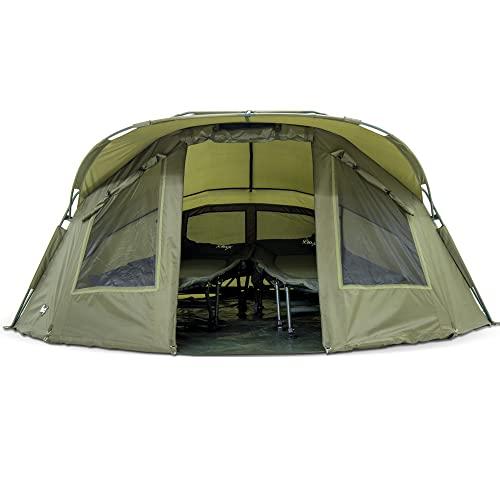 Lucx® Angelzelt - Bivvy Lion, 1-2 Mann Karpfenzelt / Carp Dome / Zelt / 10.000mm Wassersäule - Campingzelt - 9