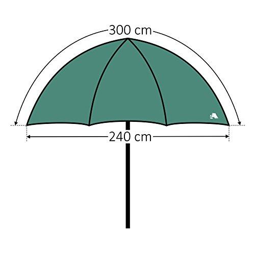 CampFeuer - Angelschirm 240 cm, Fischerschirm mit Windschutz (Umhang) und Erdnägel, AS1 - 2