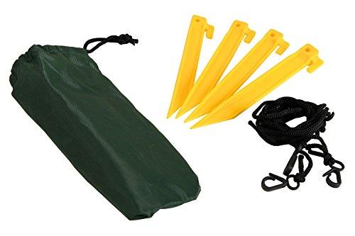CampFeuer - Angelschirm 240 cm, Fischerschirm mit Windschutz (Umhang) und Erdnägel, AS1 - 9