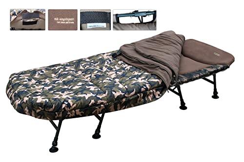 MK-Angelsport - Karpfenliege MK 8 Bein Bedchair Camo Sleeping System