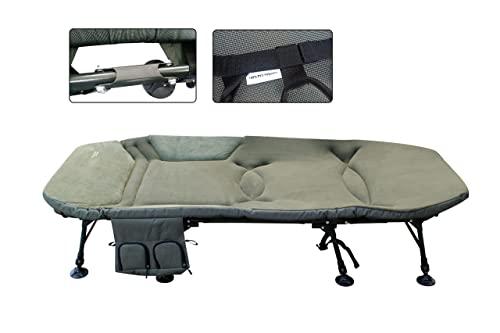MK-Angelsport Platinum X-Flat Bed Chair 8-Bein Liege mit XXL Matratze (212 x 98 x 40 cm) Campingliege Gästebett - 2