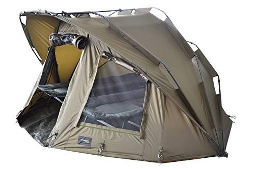 MK-Angelsport Fort Knox 2 Personen Zelt Karpfenzelt Angelzelt komplettes Set inkl. Gummihammer Dome Bivvy - 5