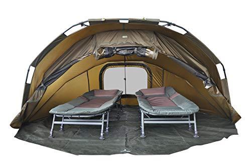 MK-Angelsport Fort Knox 2 Personen Zelt Karpfenzelt Angelzelt komplettes Set inkl. Gummihammer Dome Bivvy - 9